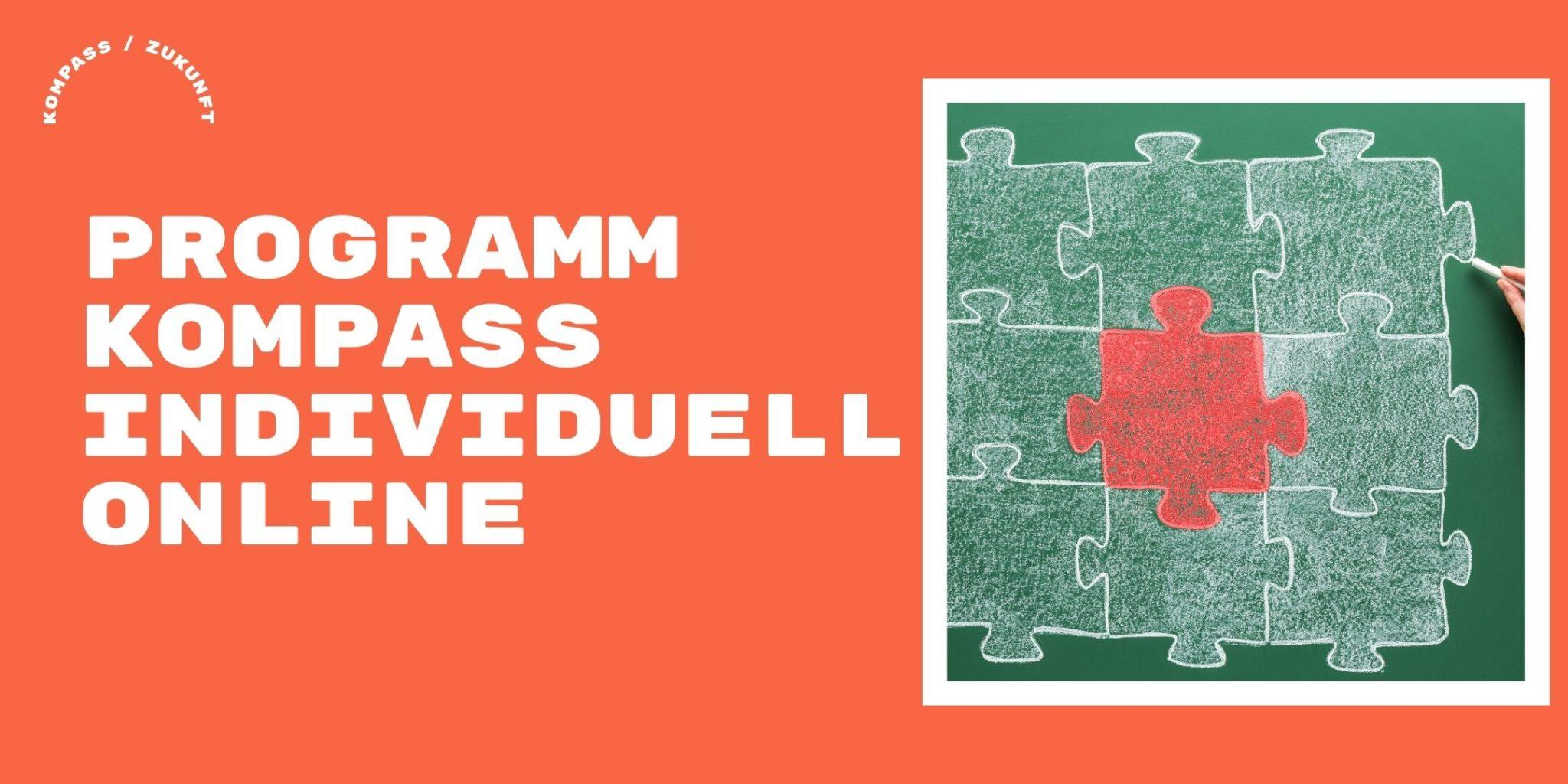Kompass Individuell Titelbild: Mensch mit Puzzleteilen